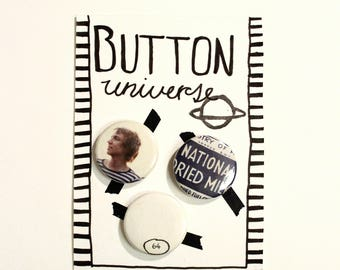 """Button """"Farber"""" fancy vintage retro with celebrity"""