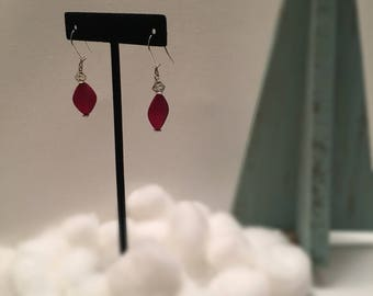 Red Matte Earrings