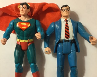 Superman & Clark Kent Action Figures