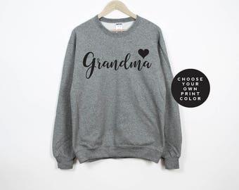 Grandma Sweatshirt, Grammy Sweater, Grammie Sweatshirt, Grandma Sweater, Gift for Grandma, New Grandma Gift, Grandma Shirt, Grammy Shirt