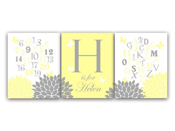 Items similar to Alphabet Art, Nursery Wall Art, DIGITAL Download ...