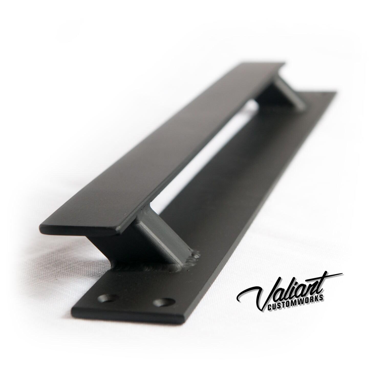 Low Profile Offset Steel Sliding Barn Door Handle   Loft Door, Industrial  Door 10   26