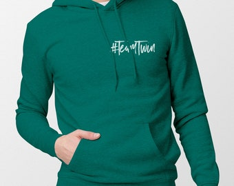 Unisex #TeamTwin Hoodie (small design) - Gift for Twin Sister - Gift for Twin Brother