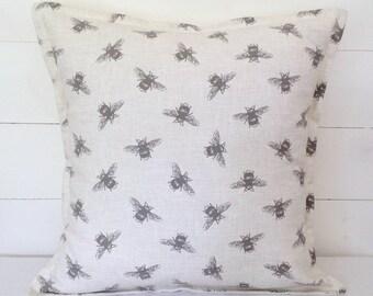 """Cushion Cover, Bees Cushion Cover 16"""" 18"""" 20"""", Pillow Case, Scatter Pillow, Bees Cushion, Linen Cushion, Bees, Scatter Cushion, Cushions"""