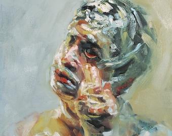 Mythology Head VI, Collaborative Oil Painting