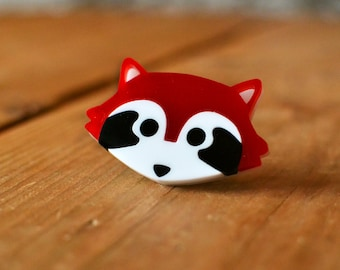 Red Panda Brooch - Stocking Stuffer - Cute Brooch - Stocking Fillers - Red Panda Gifts - Gifts For Animal Lovers - Acrylic Brooch