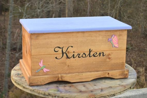 Kids Toy Box Wooden Chest Keepsake Box Memory Box Baby