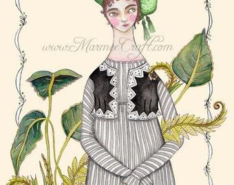 "MarmeeCraft garden art print, ""Greenhouse"""