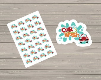 Car Wash Planner Stickers Happy Planner Fits Erin Condren Stickers Reminder Stickers Cleaning Stickers Car Wash Reminder Planner Stickers
