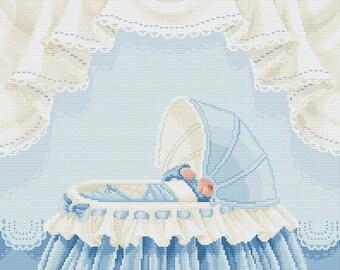 "Cross stitch pattern ""Baby boy"""