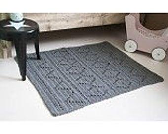 Rug 100x80 cm Crochet Aztec/Aztec crochet Back