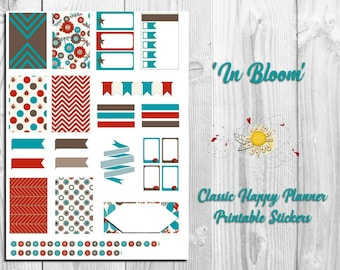 Classic Happy Planner Printable Inserts - In Bloom