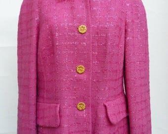 vintage Guy Laroche jacket Fuchsia buttons size 44