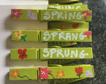 Spring Sprang Sprung Pin Pals