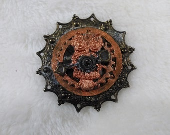 Clockwork Owl Pin/Jewelry/Steampunk Jewelry/Pin/Pins/Brooch/Brooches/Steampunk Pin/Steampunk Pins/Steampunk Brooch/Steampunk Brooches