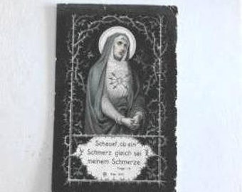 Very rare religious image - With prayer - Early 1900s