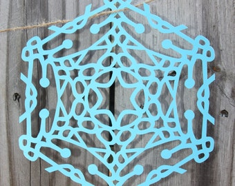 L-S Catalog Designer Name Snowflakes. paper name craft.  personalized gift.
