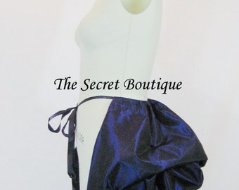 gothic bustle skirt, tie on bustle