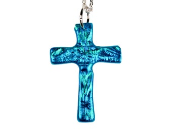 Turquoise Cross Necklace, Cross pendant, Christian jewelry, Cross jewelry