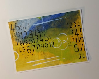 Hand-Painted Mixed Media Card