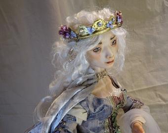 """Fairy Tale Doll, BJD 18""""  polymer clay OOAK Sarah Pierzchala"""