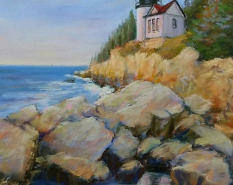 "Bass Harbor Head Light, Open Edition Print, 8.5"" x 11.625"", Bar Harbor, Maine"