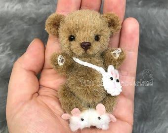 """SOLD Artist Bear  """"Barron""""- Teddy bear OOAK"""