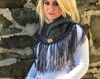 Black Cowl with Fringes