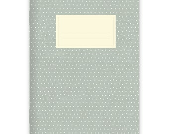 Notebook Stapled A5 Dots Turquoise