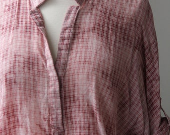 Faded Plaid Blouse