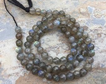 Labradorite Round Beads, Grade AAA Round Labradorite Beads, 5mm Labradorite Beads, 13.5 inch strand