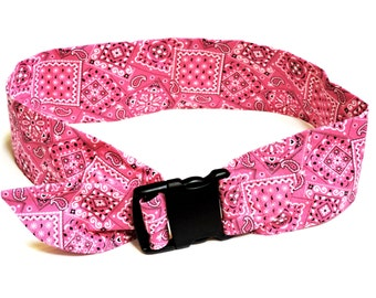 2XL Dog Cooling Collar, Custom Extra Large Pet Neck Cooler Cool Tie Gel Bandana, Pink Bandana Print, Solid Colors 26 - 30 inch neck iycbrand