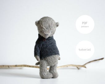 PDF Sewing Pattern & Tutorial Mohair Teddy Bear 7,5 Inches Artist Teddy Bear Pattern Stuffed Animal Pattern Plush Pattern Soft Toys