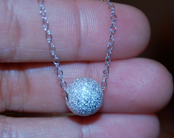 Silver stardust necklace - Wedding Necklace, stardust necklace, Simple necklace