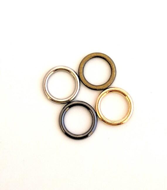 Small O-rings GUNMETAL / 12mm O Rings / Gunmetal o Rings /