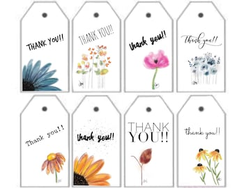 Downloadable Thank You Gift Tags (set of 8)