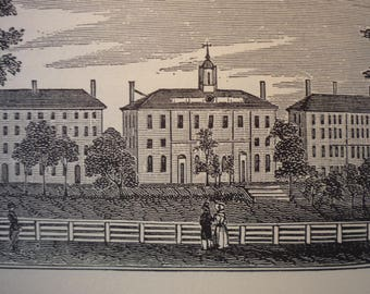 Andover Massachusetts Town Engravings 1840 reprinted 1964 - New England Cities Antiquarian Society - framable gift town history