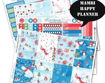 Winter Stickers Planner Kit 200+ Happy Planner Sticker, Mambi Planner Sticker kit, Weekly Planner Kit, Seasonal #SQ00031-MHP