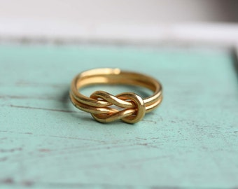 Knot Ring Gold, Love Knot Ring, Gold Love Knot Ring, Gold Band Ring, Vintage Knot Ring, Gold Vintage Ring, Gold Ring, Size 4,5,6,7