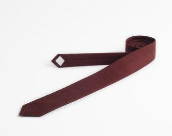Wine red necktie - MADE TO ORDER