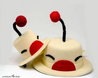 Final Fantasy Inspired Moogle Top Hats Facinators - Small 9cm