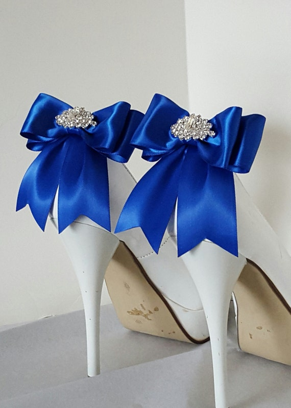 Royal blue wedding shoe clipsbridal shoe clips many junglespirit Image collections