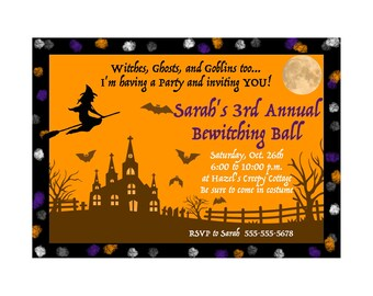 Bewitching Ball Costume Party Invite