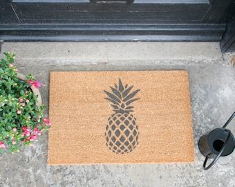 Pineapple Grey Doormat