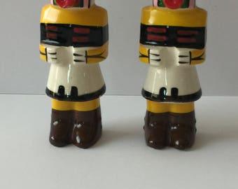 Vintage Kachina Southwest Salt and Pepper shakers