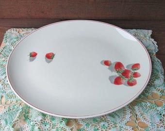 Strawberry Shortcake Vintage Plate | Strawberry Kitchen Decor