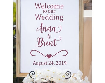 Welcome To Our Wedding Decal Rustic Wedding Decor Rustic Wedding Decal Wedding Welcome Vinyl Country Wedding Wedding Vinyl DIY Wedding Sign