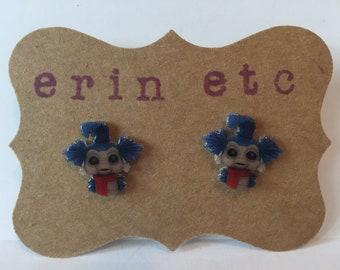 Handmade Plastic Fandom Earrings - Labyrinth - Worm