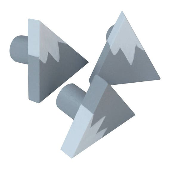 Mountain Drawer Knob Grey Gray and White Mountain Drawer