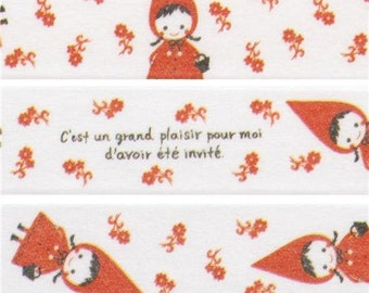 202343 white Little Red Riding Hood Washi Masking Tape deco tape Shinzi Katoh Japan